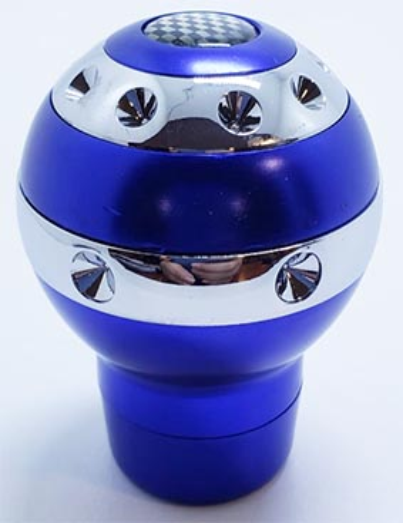 Pomo deportivo premium aluminio azul