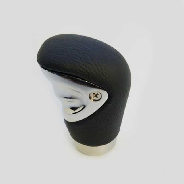 Pomo deportivo premium cuero negro con cromado