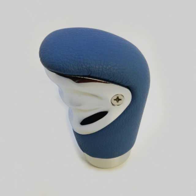 Pomo deportivo premium cuero azul con cromado