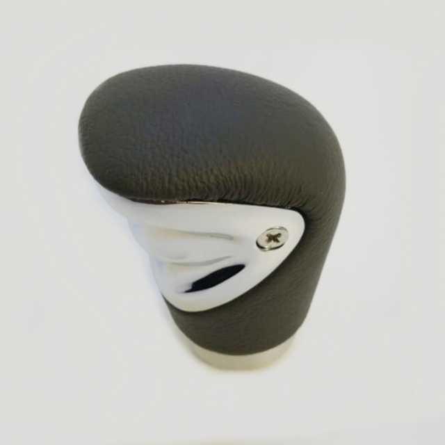 Pomo deportivo premium cuero gris con cromado