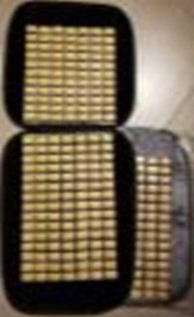 Cubre asiento bamboo tablita con borde de pana