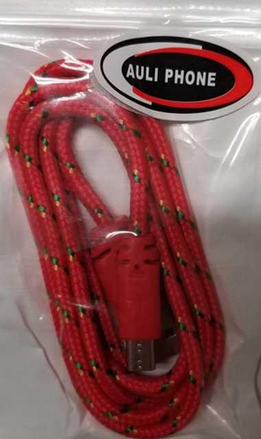 Cable cargador usb a micro usb cordon 1 mt