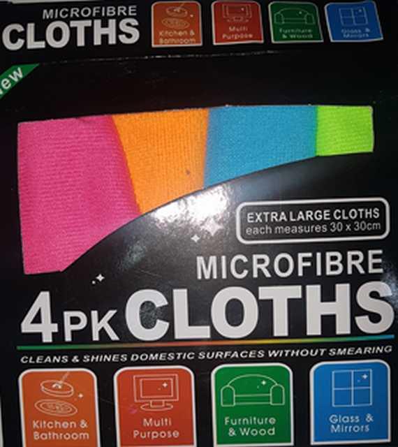Microfibra 30x30 xm set x 4 piezas