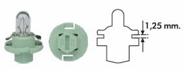 Pbx4 12v 2w verde magneti marelli