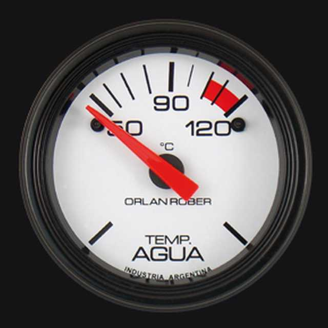Temp. agua electrico 12v 120 blanco orlan rober