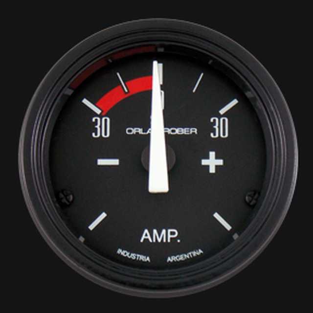 Amperimetro 30a negro orlan rober