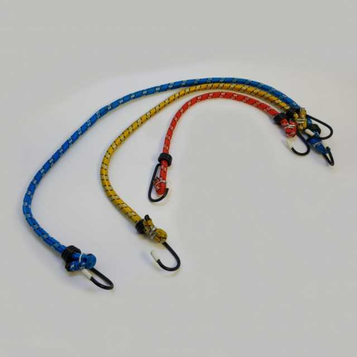 Tensor elastico con ganchos metalicos 3 pcs 30-45-60 cm
