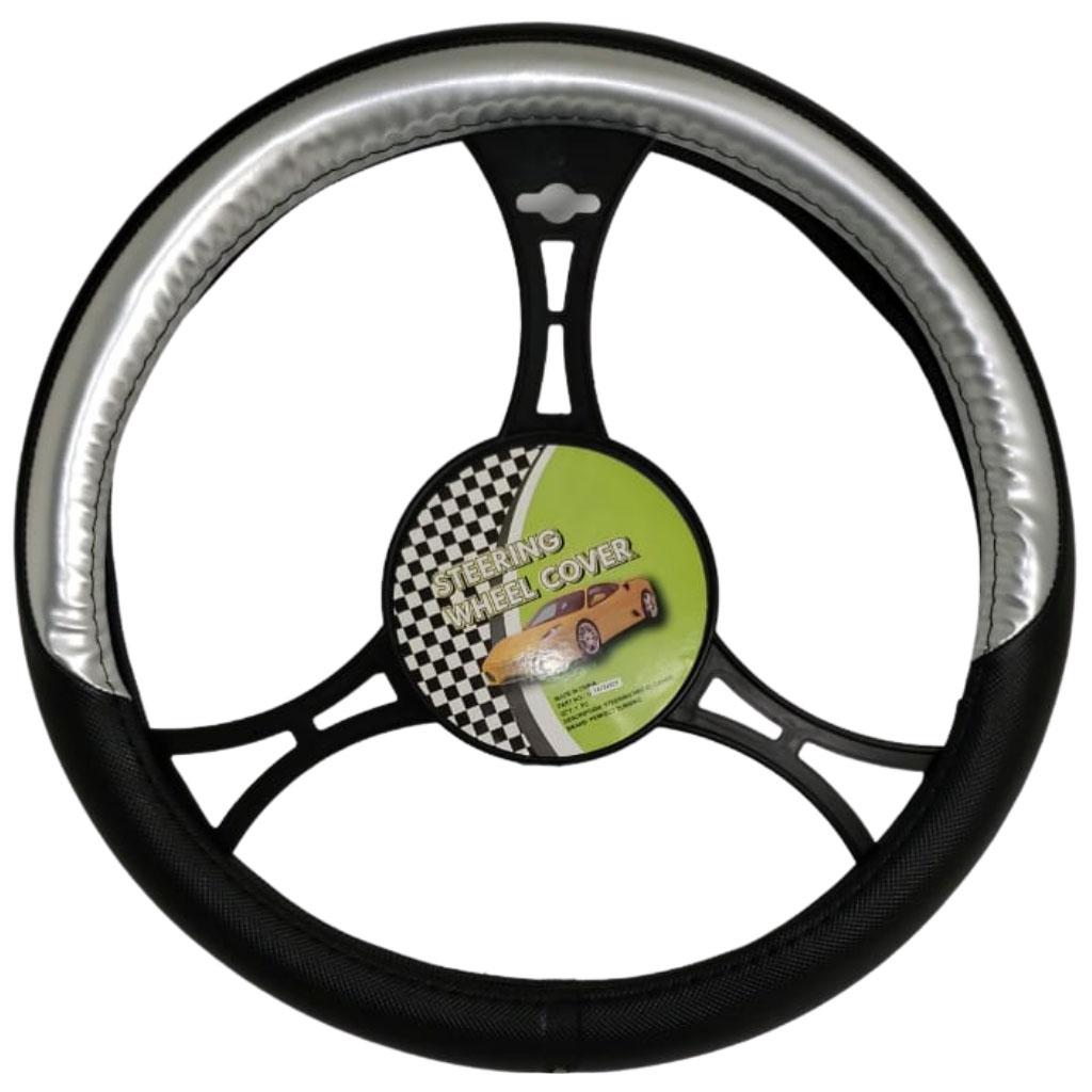 Cubre volante ac negro detalle gris