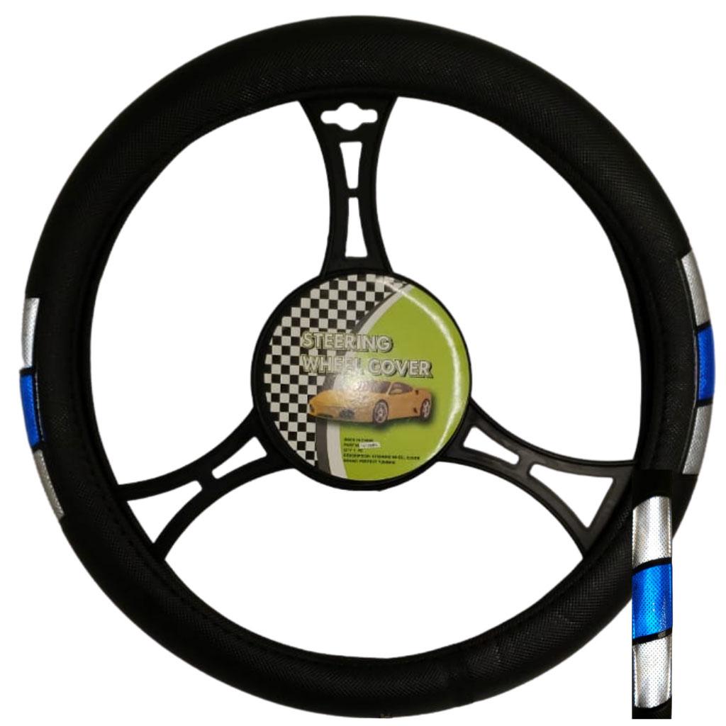 Cubre volante ac tricolor reflectivo gris-azul-gris