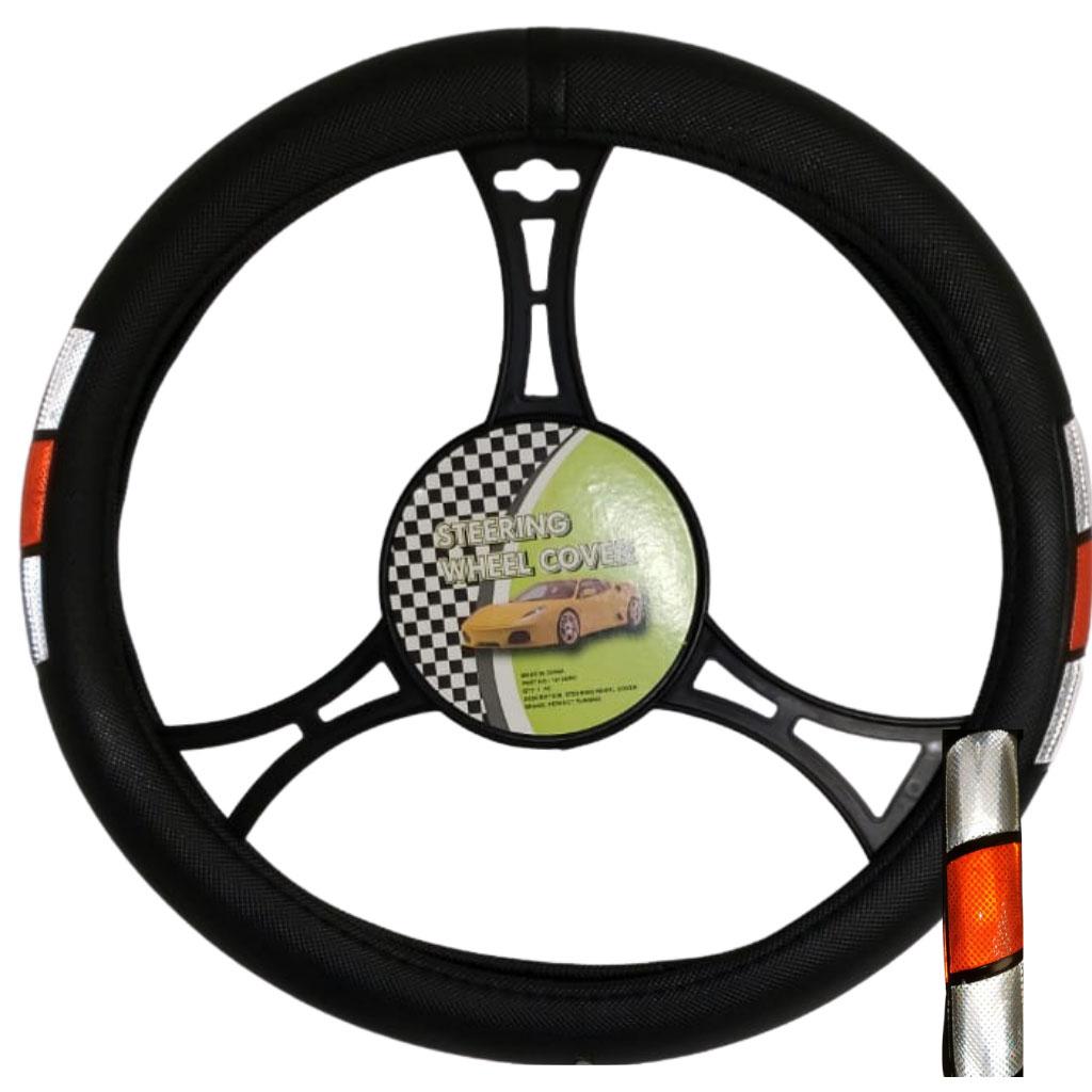 Cubre volante ac tricolor reflectivo gris-rojo-gris