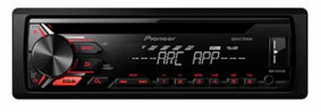 Reproductor cd pioneer mp3-usb-aux-c.rem 4x50w