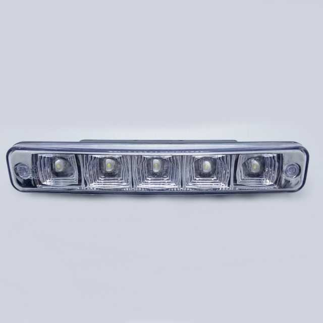 Faro 5 led rectangular 17x3 cm 12v x jgo. dl027