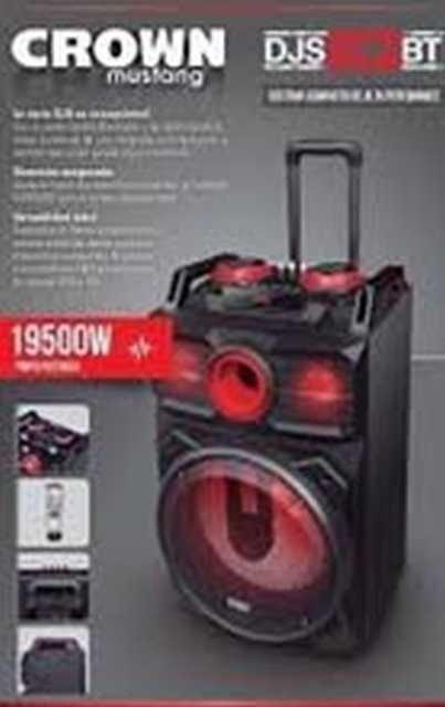 Gabinete acustico 2x10 1200w mezclador 6ch usb/sd/bt