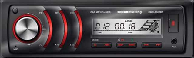Radio digital crown mustang bt usb-sd-aux-rca 52wx4