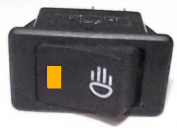 Llave tecla de embutir un punto con luz ambar nld6028