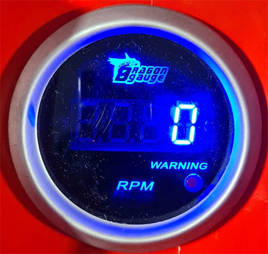 Tacometro 52mm nro. digital led azul