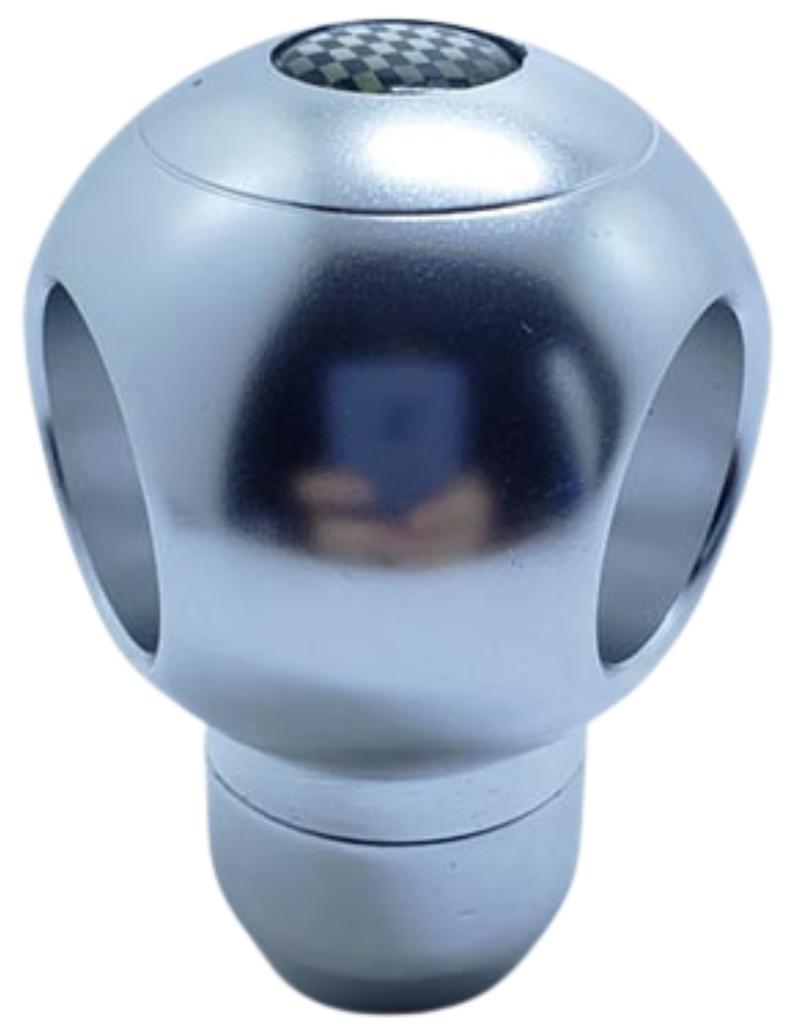 Pomo deportivo premium aluminio gris bola con huecos