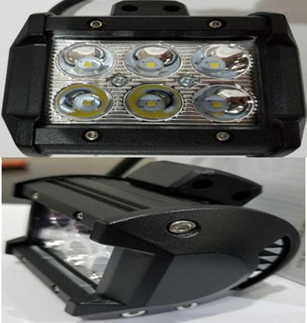 Faro 12 led 36w 10-30v 6000k 16 cm aluminio negro resis (20)
