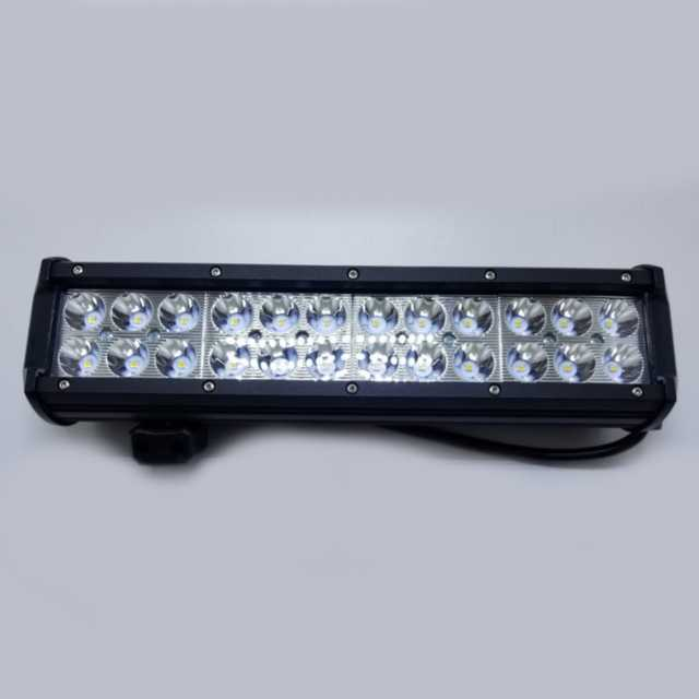 Faro 24 led 72w 10-30v 6000k 30 cm aluminio negro resist(10)