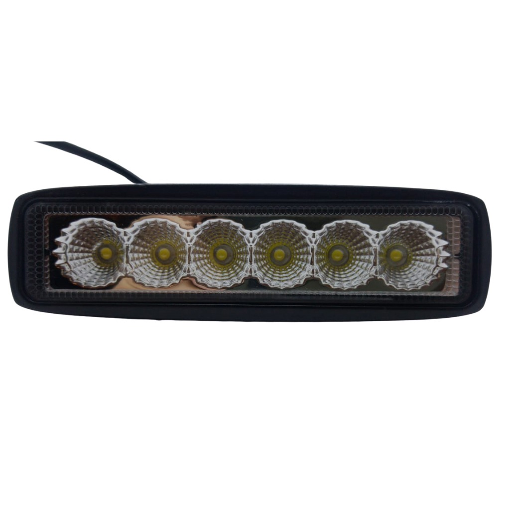 Faro 6 led rectangular 18w 9-30v 6500-7000k (30)