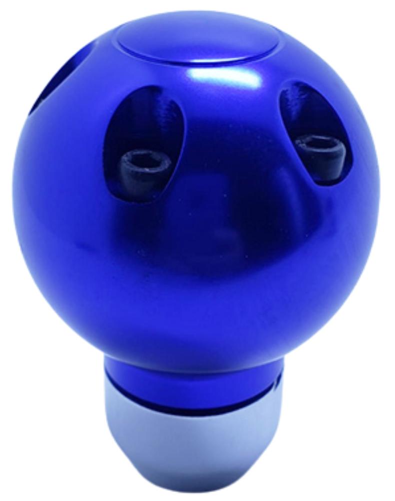Pomo deportivo premium aluminio azul bola momo