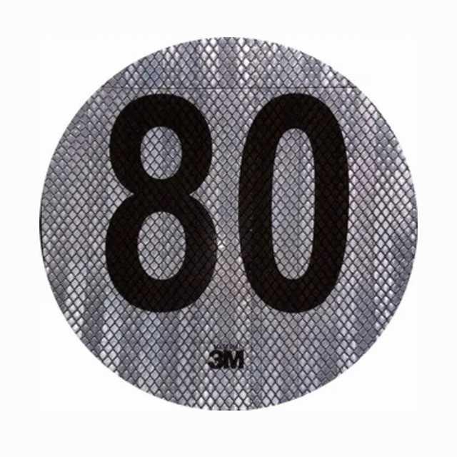 Logo reflectivo 3m maxima 80 km-h