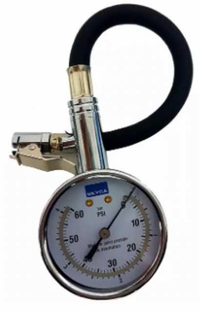 Medidor de presion beyca 58mm c-manguera y pico 0-60 psi