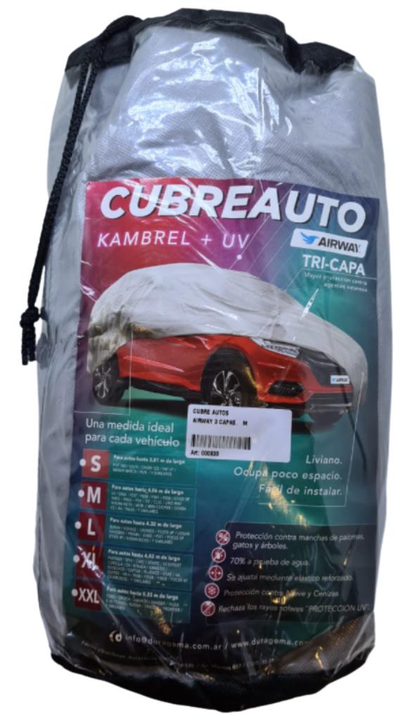 Cubre auto bicapa impermeable xxl 4 x 7 mts