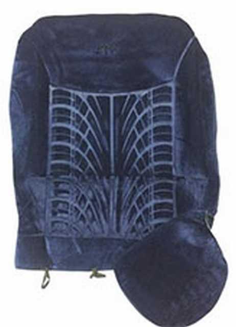 Funda terciopelo radial azul