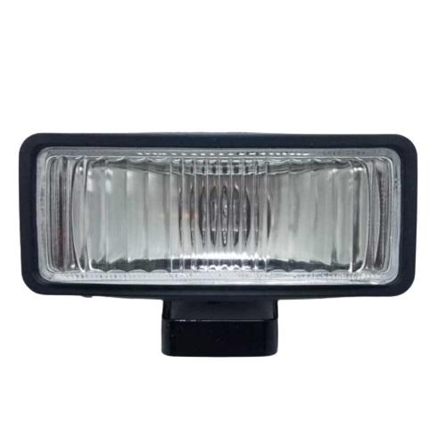 Jgo faros rectangular 160 x 65mm cristal chapa negra (20)