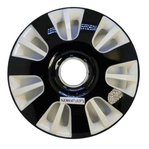 Taza rueda 13 negro-blanco 30147 x jgo.