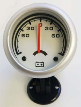 Amperimetro importado 52mm fondo blanco