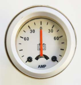 Amperimetro importado 40mm fondo blanco
