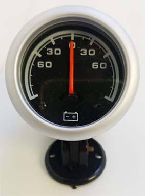 Amperimetro importado 52mm fondo negro