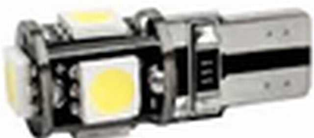 Lampara t10 5 smd canbus 5050 blancos