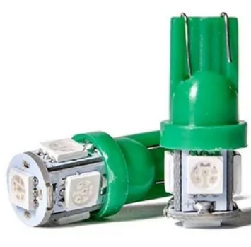 Lampara t10 5 smd verde