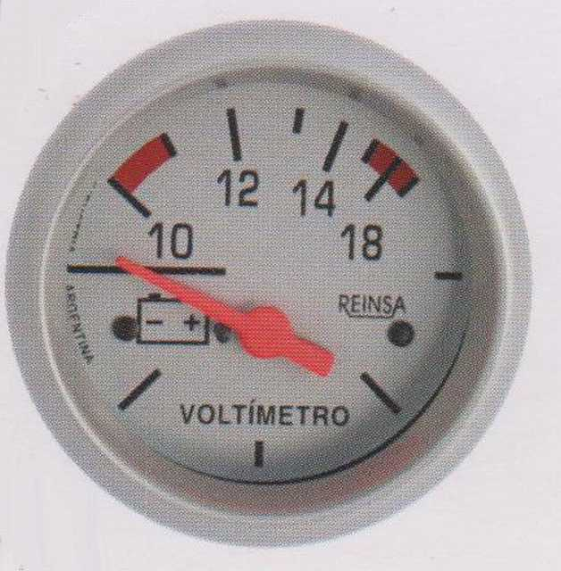 Voltimetro reinsa 10-18 v 52 mm gris