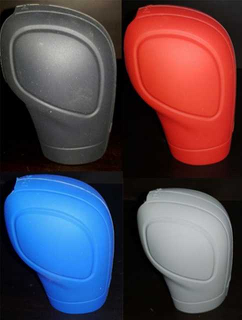 Cubre pomo de silicona negro-gris-azul-rojo