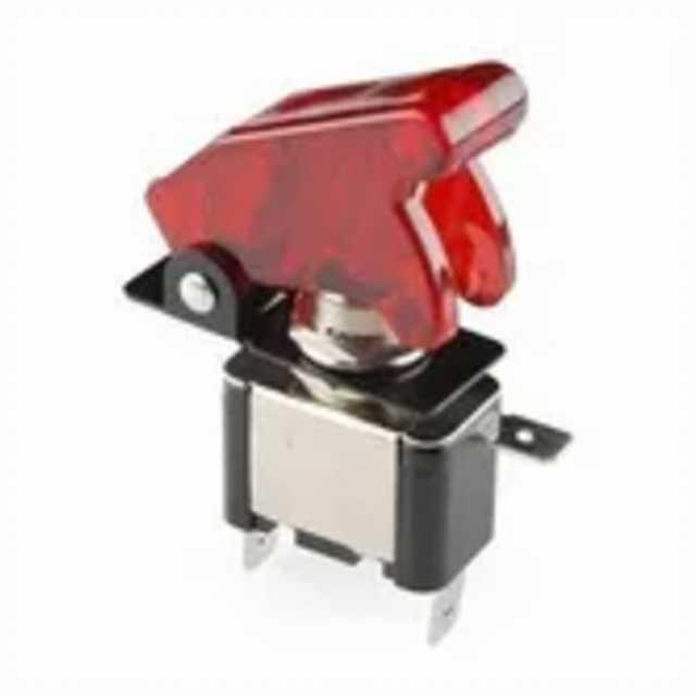 Llave palanca metalica c-cubierta c-luz roja gga034